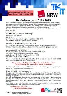 BeamtInnen-Info ver.di LFB 9 NRW 01/2015