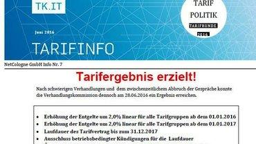Tarifinfo 7 NetCologne - Teaser