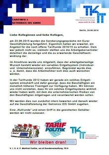Tarifinfo 2 Getronics IDS