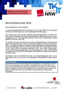 Flyer LFB 9 NRW Beurteilungsrunde 2016