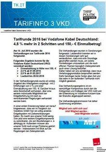 Tarifinfo Ergebnis Vodafone Kabel Deutschland