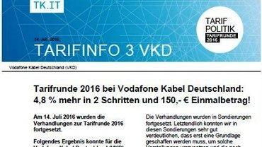 Tarifinfo Ergebnis Vodafone Kabel Deutschland - Teaser