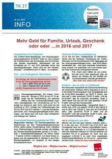Flyer LFB 9 RLP-Saar Beamte PNU Besoldungserhöhung 2016 / 2017 - Seite 1 von 2
