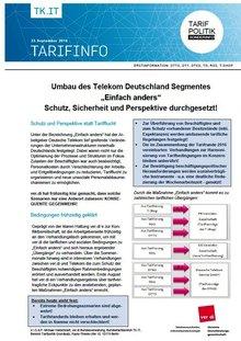 """Erstinfo Umbau Telekom Deutschland-Segment """"Einfach anders"""" - Seite 1 von 5"""