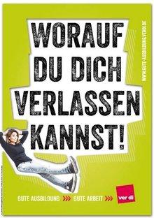 Worauf Du Dich verlassen kannst - Plakat Aktionswoche Gute Ausbildung - Gute Arbeit