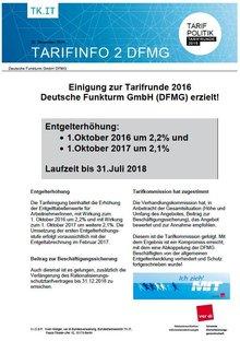 Tarifinfo 2 DFMG Tarifrunde 2016
