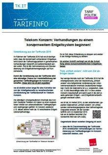 Tarifinfo 1 - Harmonisierung Entgeltsysteme Telekom-Konzern - Seite 1 von 2