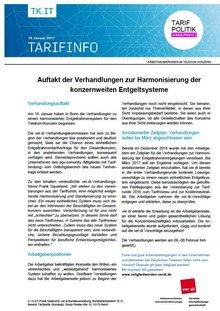Tarifinfo 2 - Harmonisierung Entgeltsysteme Telekom-Konzern