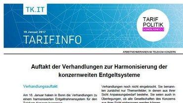Tarifinfo 2 - Harmonisierung Entgeltsysteme Telekom-Konzern - Teaser