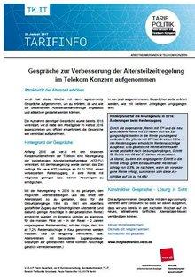 Tarifinfo 1 Altersteilzeit 2017 im Telekom-Konzern