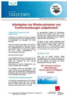 Tarifinfo infinIT Februar 2017