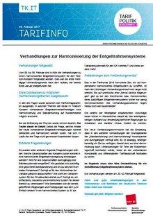 Tarifinfo 3 - Harmonisierung Entgeltsysteme Telekom-Konzern