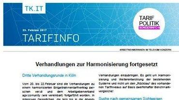 Tarifinfo 4 - Harmonisierung Entgeltsysteme Telekom-Konzern - Teaser