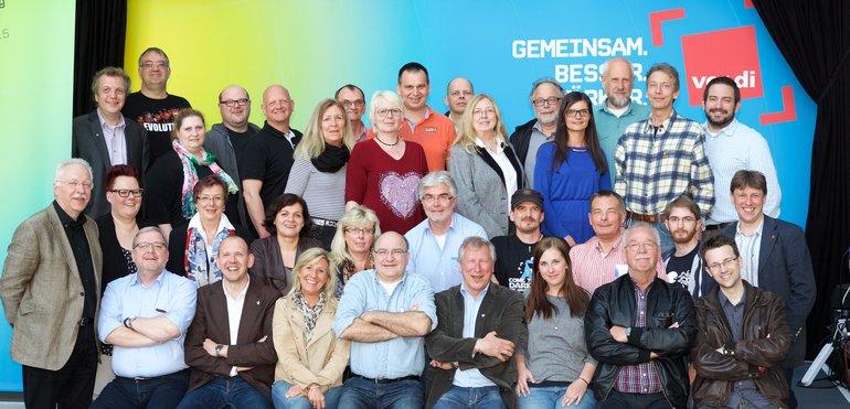 Delegation des Landesfachbereichs 9 NRW, einschließlich der sie beratenden GewerkschaftssekretärInnen