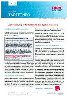 Tarifinfo BIG6 Zielerreichung