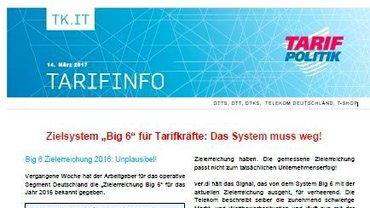 Tarifinfo BIG6 Zielsystem - Teaser