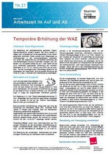 Flyer temporäre WAZ-Erhöhung Beamte - Seite 1 von 2