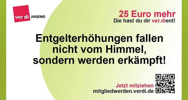 Rückseite 25 € Schein der ver.di-Jugend