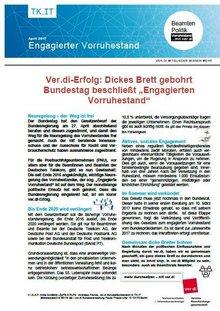 ver.di-Info Bundestag beschließt engagierten Vorruhestand - Seite 1