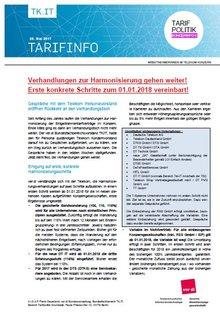 Tarifinfo 6 Harmonisierung Entgeltsysteme Telekom-Konzern - Seite 1 von 3