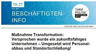 ver.di-Info Vodafone Kabel Deutschland - Transformation - Teaser