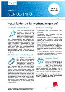 ver.di-Flyer 7 - Telefónica zu Tarifverhandlungen aufgefordert
