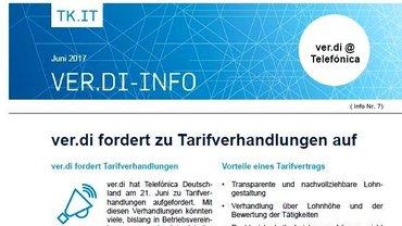 ver.di-Flyer 7 - Telefónica zu Tarifverhandlungen aufgefordert - Taeser