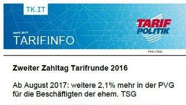 Tarifinfo Zweiter Zahltag Tarifrunde TSG 2016 - Teaser