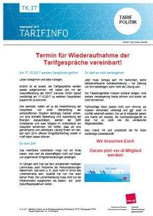 infin IT - Tarifinfo September 2017