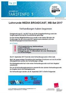Tarifinfo 1/2017 Media Broadcast