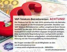 VAP - Betriebsrenten - ACHTUNG