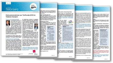Tarifinfo Diskussionsrahmen Tarifrunde Telekom-Konzern 2018
