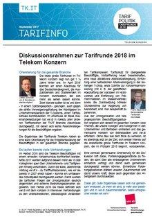 Tarifinfo Diskussionsrahmen Tarifrunde Telekom 2018 - Seite 1 von 5