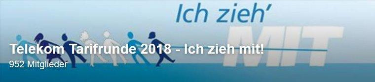 Tarifrunde Telekom 2018 auch bei facebook