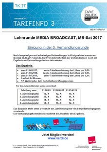 Tarifinfo 3 MEDIA BROADCAST