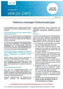 Flyer - Telefonica verweigert Tarifverhandlungen