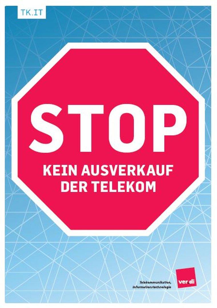 STOP - Kein Ausverkauf der Telekom