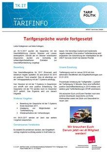 infinIT Tarifinfo Dezember 2017