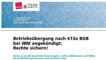 ver.di @ IBM Dezember 2017 Betriebsübergang - Teaser