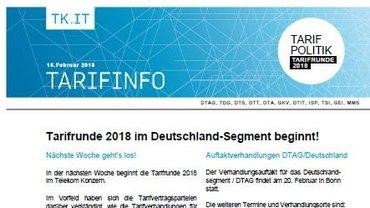 Tarifinfo 3 - Verhandlungsauftakt steht bevor - Teaser