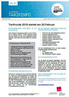 Tarifinfo 4 - Tarifrunde Telekom startet