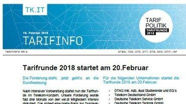 Tarifinfo 4 - Tarifrunde startet - Teaser