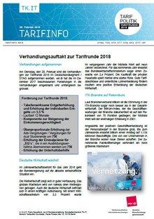 Tarifinfo 5 - Verhandlungen eröffnet  - Seite 1