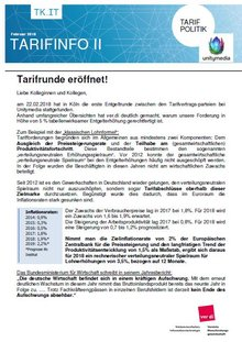 Tarifinfo 2 Tarifrunde Unitymedia 2018  - Seite 1