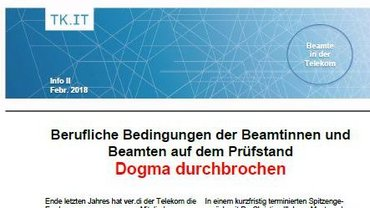 Flyer Telekombeamte Spitzengespräch - Teaser