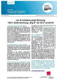 Tarifinfo 7 - Ergebnis Zielerreichung BIG 6 2017