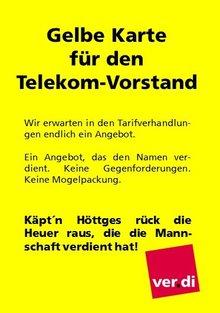 Gelbe Karte für den Telekom-Vorstand