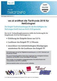Tarifinfo 1 NetCologne Tarifrunde 2018