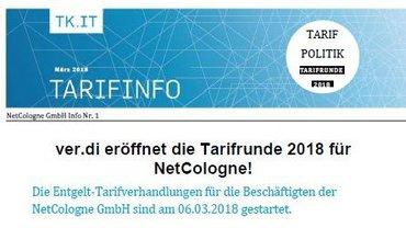 Tarifinfo 1 NetCologne Tarifrunde 2018 - Teaser