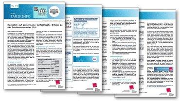 Themenbrief Betriebsratswahl 2018 Tarifpolitische Erfolge